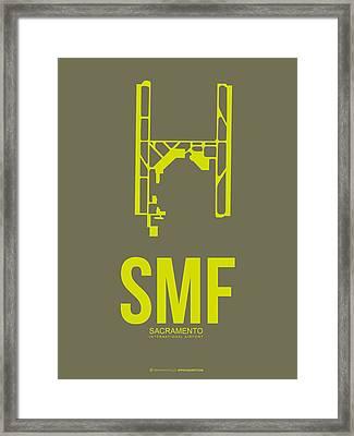 Smf Sacramento Airport Poster 3 Framed Print by Naxart Studio