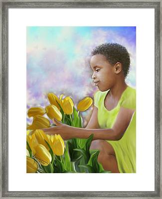 Smile 3 Framed Print by Kume Bryant