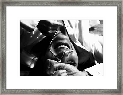 Smile A Little Framed Print by Kristie  Bonnewell