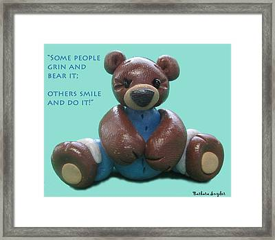 Smile And Do It Framed Print by Barbara Snyder