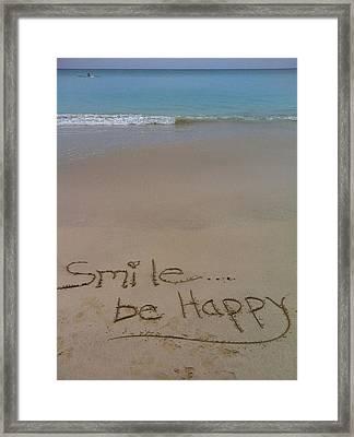Smile Be Happy Framed Print