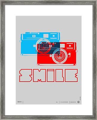 Smile Camera Poster Framed Print by Naxart Studio