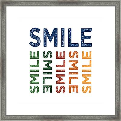 Smile Cute Colorful Framed Print