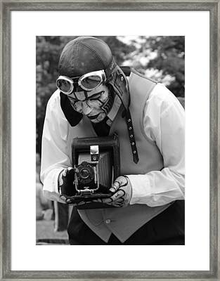 Smile For The Camera Framed Print by Kym Backland