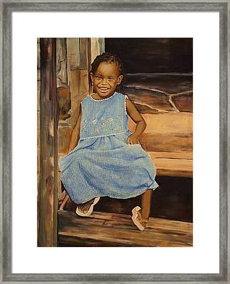 Smile From Honduras Framed Print by Sheila Diemert