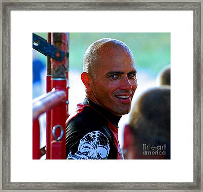 Smile From Mr.slater  Framed Print