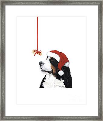 Smile Its Christmas Phone Framed Print