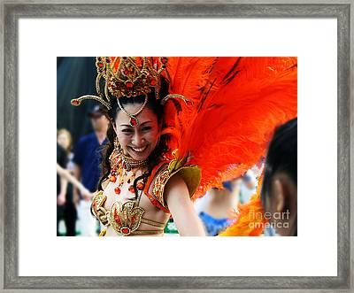 Framed Print featuring the photograph Smile by JianGang Wang