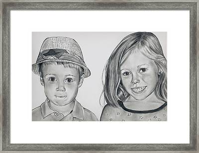 Smile Jimmy Framed Print by Barb Baker