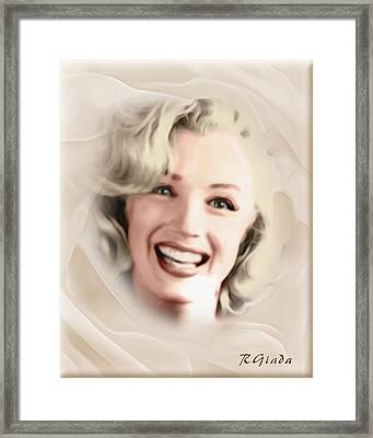 Smile Of A Goddess Framed Print by Giada Rossi