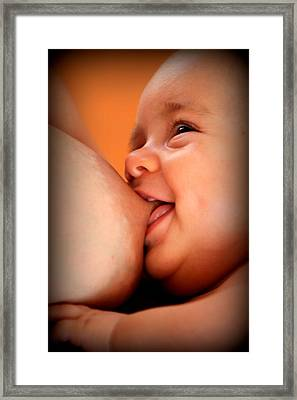 Smile Of A Happy Baby Framed Print