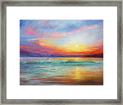 Smile Of The Sunrise Framed Print by Marie Green