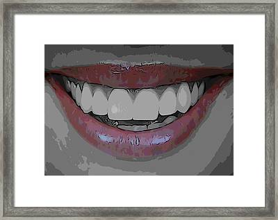 Smile Poster Framed Print by Dan Sproul