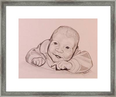 Framed Print featuring the drawing Smile by Sharon Schultz