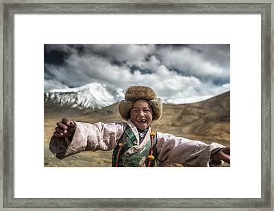Smile {tibet} Framed Print