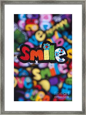 Smile Framed Print by Tim Gainey