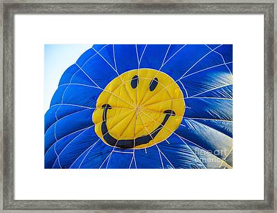 Smiley Balloon Framed Print by Robert Bales