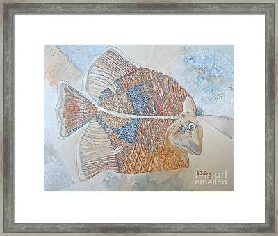 Framed Print featuring the painting Smiley  by Delona Seserman