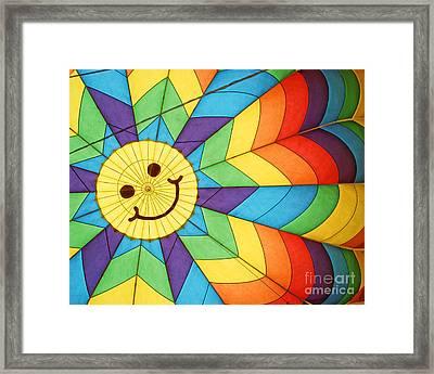 Smiley Face Balloon Framed Print