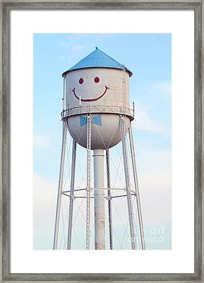 Smiley The Water Tower Framed Print