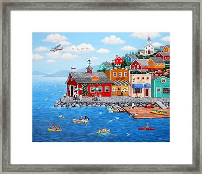 Smiley's Framed Print