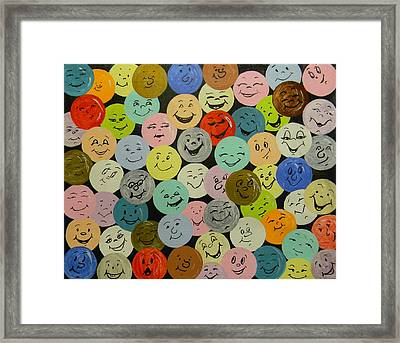 Smilies Framed Print