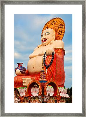 smiling Buddha Framed Print by Adrian Evans