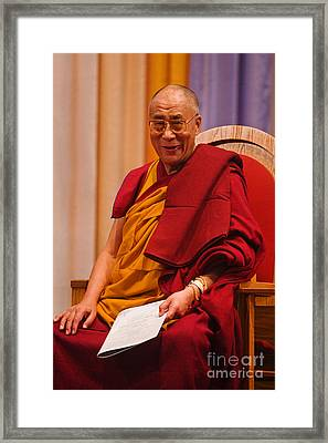 Smiling Dalai Lama Framed Print by Craig Lovell