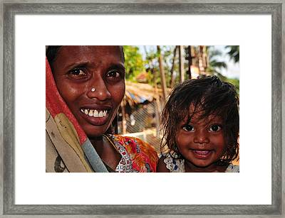 Smiling Eyes. India Framed Print by Jenny Rainbow