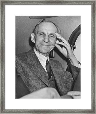 Smiling Henry Ford Framed Print by Underwood Archives