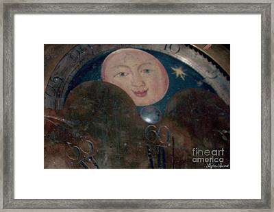 Framed Print featuring the photograph Smiling Moon by Lyric Lucas