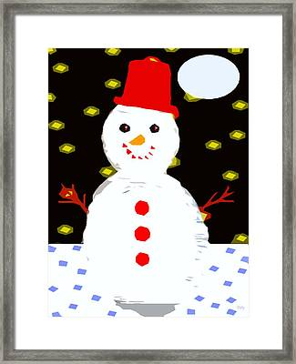 Smiling Snowman Framed Print by Patrick J Murphy