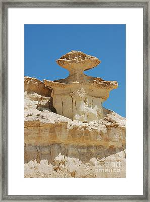 Framed Print featuring the photograph Smiling Stone Man by Linda Prewer