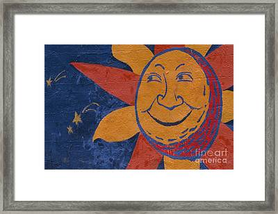Smiling Sun Framed Print by Chris Selby