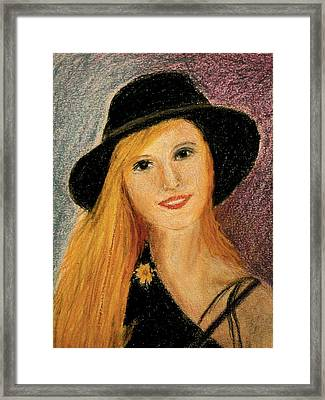 Smiling Young Lady  Framed Print