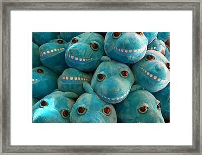 Smiling Sharks Framed Print