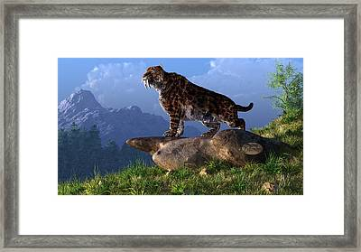 Smilodon Fatalis Framed Print by Daniel Eskridge
