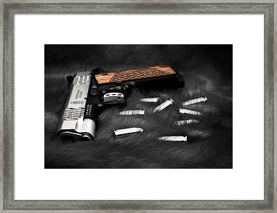 Smith And Wesson 1911sc Still Life Framed Print by Tom Mc Nemar