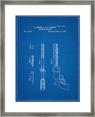 Smith And Wesson Patent Framed Print by Decorative Arts