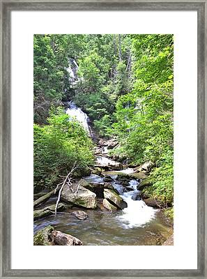 Smith Creek Downstream Of Anna Ruby Falls - 3 Framed Print by Gordon Elwell