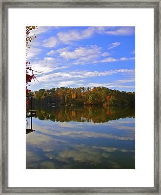 Smith Mt. Lake Reflection Framed Print