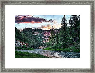Smith River At Dusk Framed Print