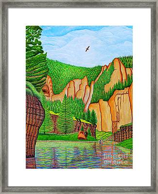 Framed Print featuring the painting Smith River Montana by Joseph J Stevens