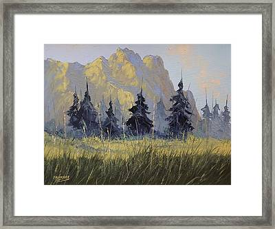 Framed Print featuring the painting Smith Rock Oregon by Richard Faulkner