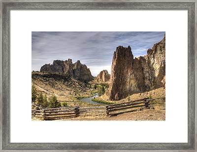 Smith Rocks State Park Framed Print by Arthur Fix