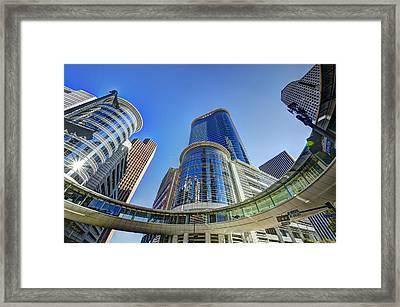 Smith Street Circle Framed Print by David Morefield