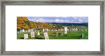 Smithfield Cemetery And Farms Framed Print by Panoramic Images