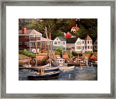 Smiths Cove Gloucester Framed Print by Eileen Patten Oliver