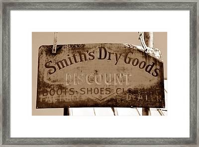 Smiths Dry Goods Framed Print
