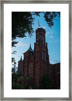 Smithsonian Castle Dawn Framed Print by Steve Gadomski